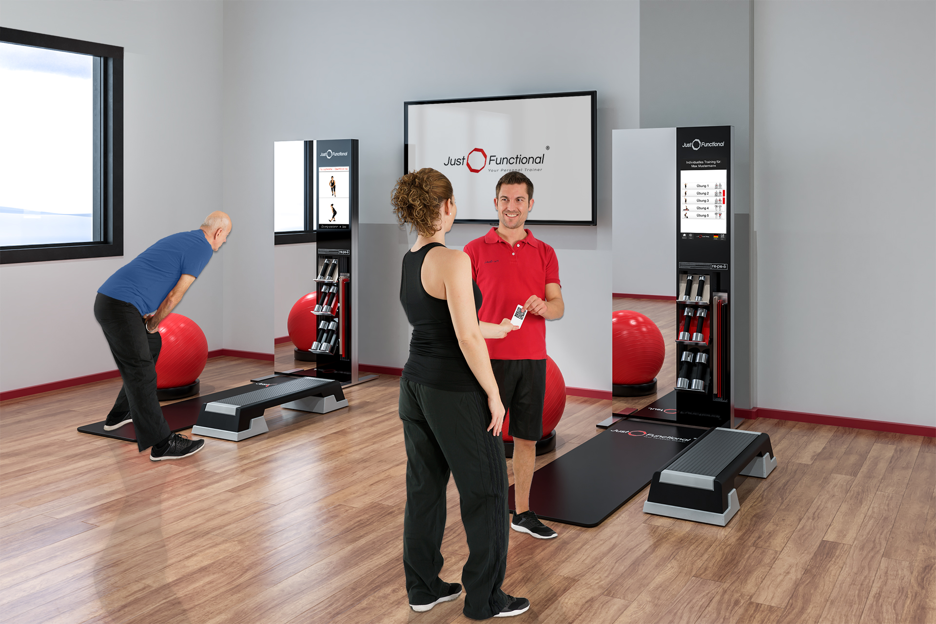 Virtual and functional training station MoveOne